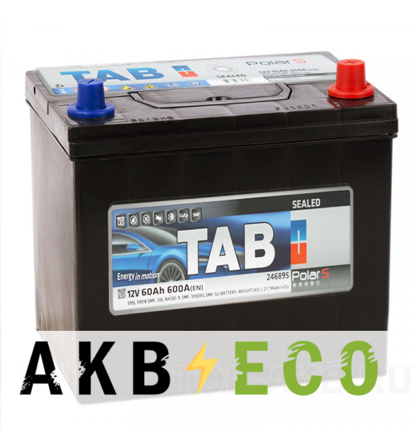 Автомобильный аккумулятор Tab Polar S 60R (600А 232x173x225) D23 обр. 246861 56068