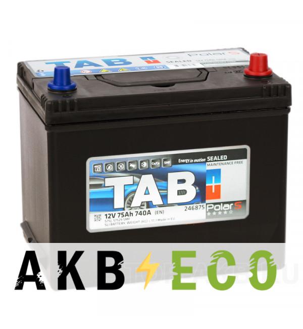 Автомобильный аккумулятор Tab Polar S 75R (740А 261x175x220) D26 обр. 246875 57529