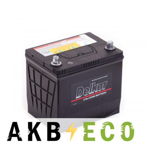 Автомобильный аккумулятор Delkor 90D23L (70R 600A 230x173x225)