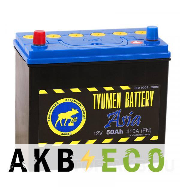 Автомобильный аккумулятор Tyumen Battery Asia 50 Ач прям. пол. 410A (238x129x227)