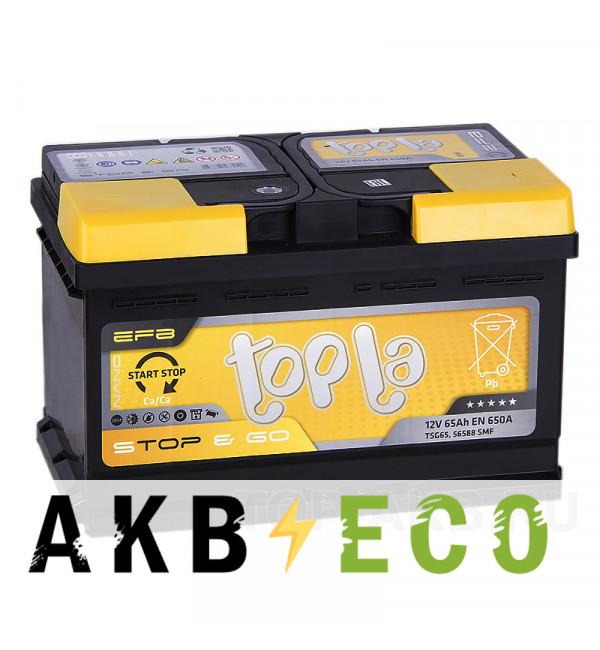 Автомобильный аккумулятор Topla EFB Stop-n-Go 65R (650A 278x175x175) 112065 56588