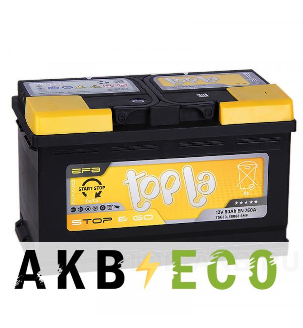 Автомобильный аккумулятор Topla EFB Stop-n-Go 80R (760A 315x175x190) 112080 58088