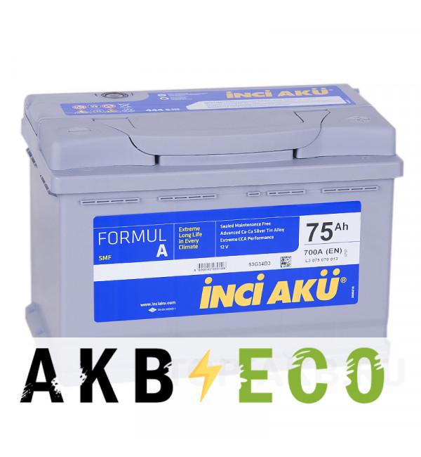 Автомобильный аккумулятор INCI AKU 75R 700A 278x175x190