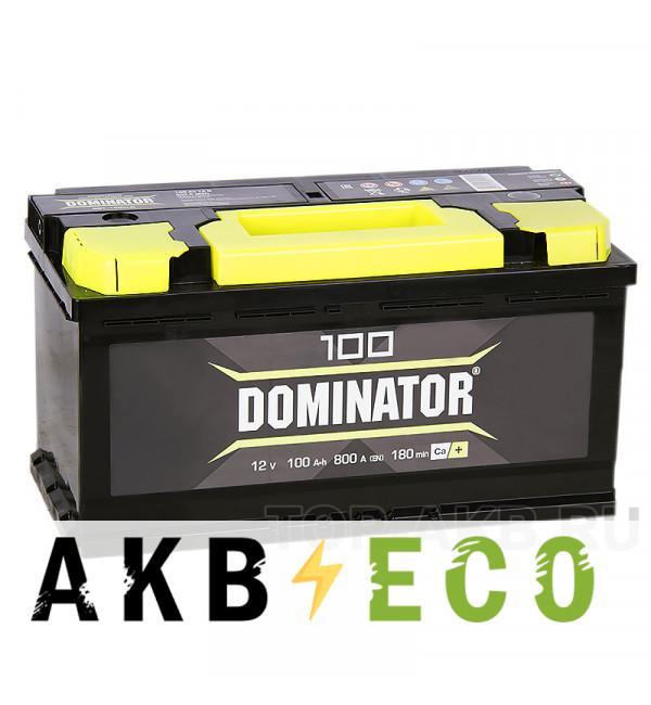 Автомобильный аккумулятор Dominator 100R 800А 353x175x190
