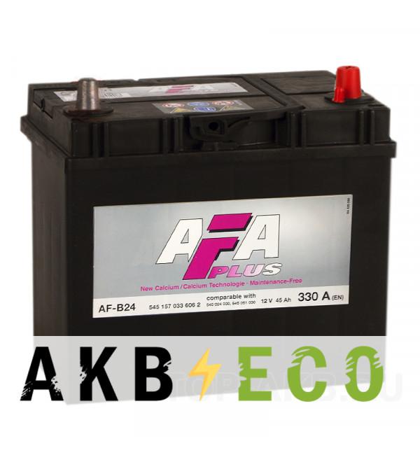 Автомобильный аккумулятор AFA Plus 45R 330A 238x129x227 узкие кл. AF-B24L