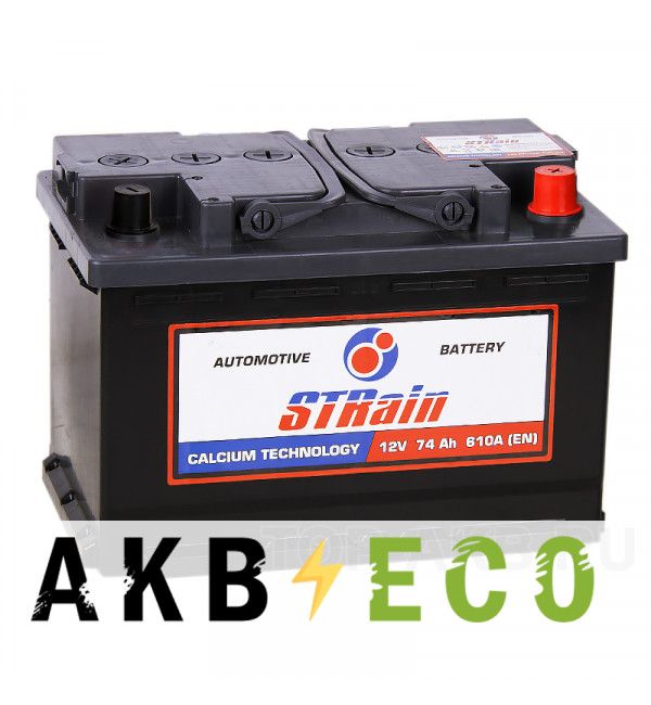 Автомобильный аккумулятор STrain 75R 630A 278x175x190
