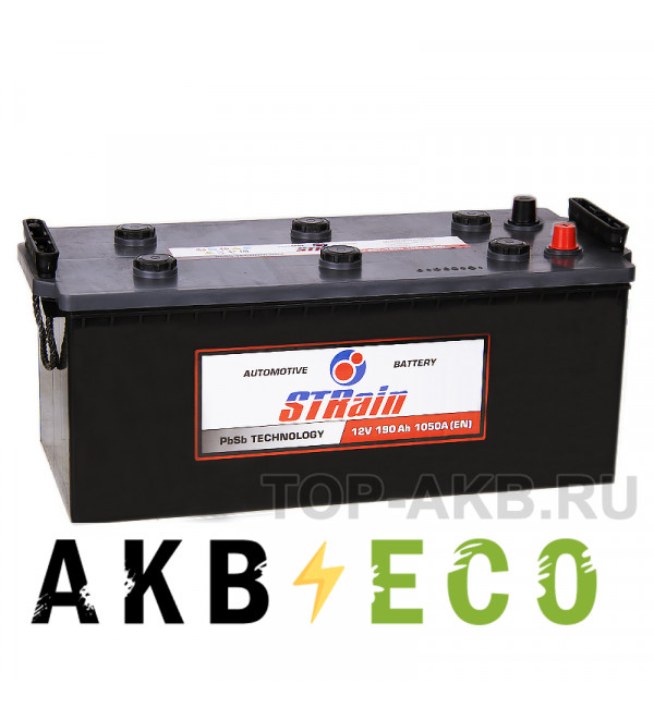 Грузовой аккумулятор STrain 190 евро 1050A 513x223x223