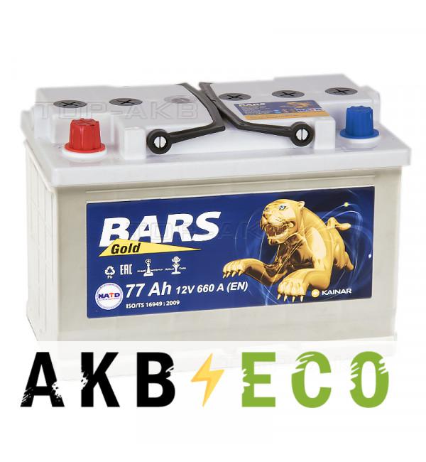 Автомобильный аккумулятор Bars 77L 670A 276x175x190