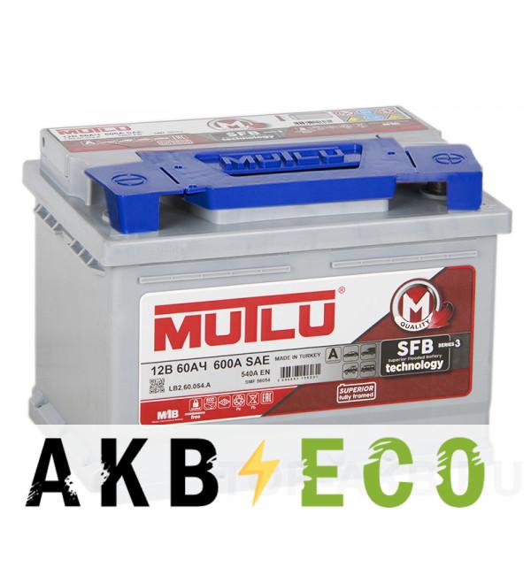 Автомобильный аккумулятор Mutlu Mega Calcium 60R низкий 540A 242x175x175