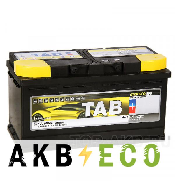 Автомобильный аккумулятор Tab EFB Stop-n-Go 90R (850A 353x175x190) 212090 59088