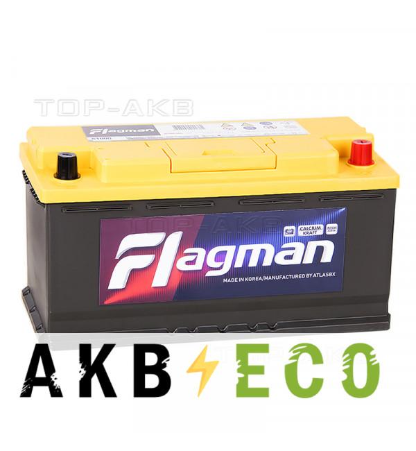 Автомобильный аккумулятор Flagman 110R 1000A (393x175x190) 61000