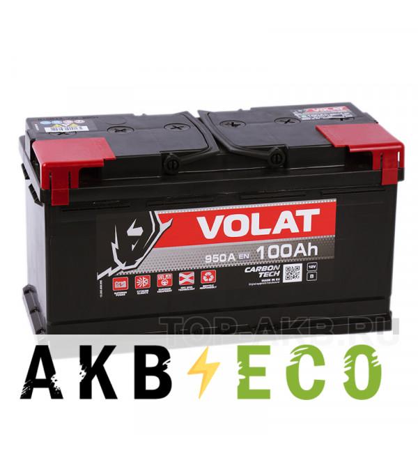 Автомобильный аккумулятор Volat 100L (950A 353x175x190)