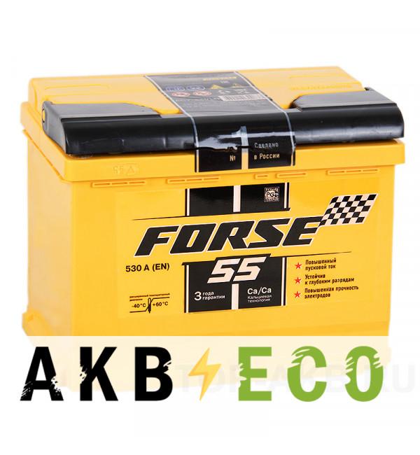 Автомобильный аккумулятор Forse 55L 530A (242x175x190)