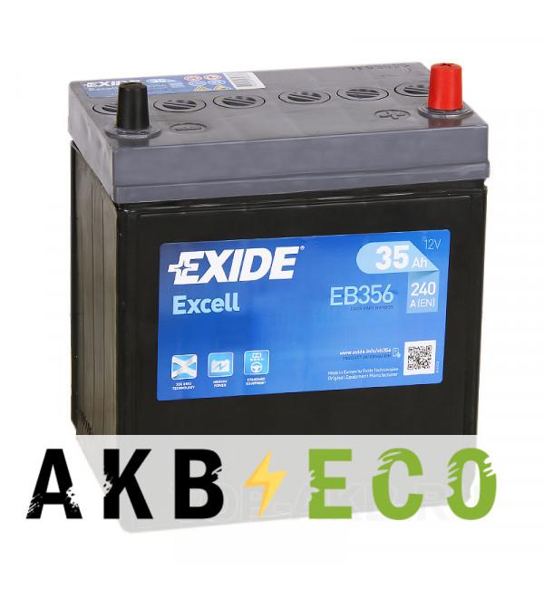 Автомобильный аккумулятор Exide Excell 35R (240A 187x127x227) EB356