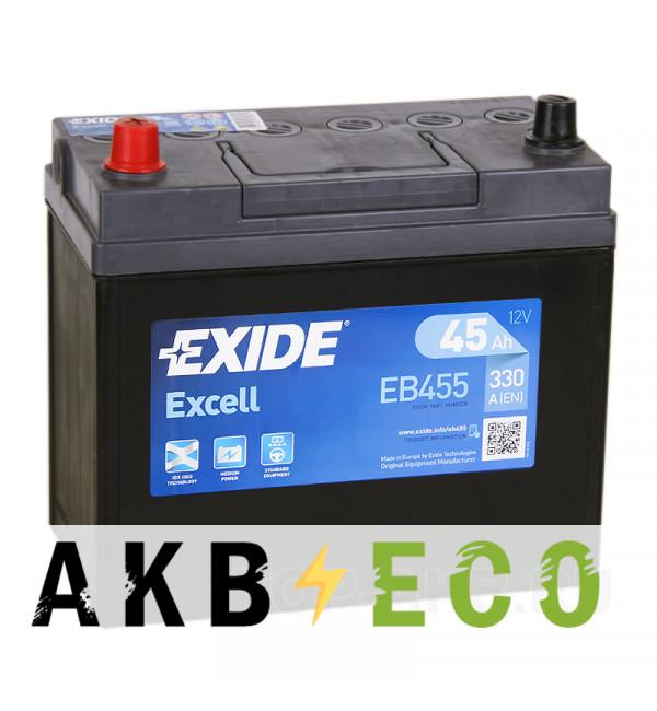 Автомобильный аккумулятор Exide Excell 45L (330A 238x129x227) EB455