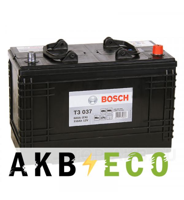 Автомобильный аккумулятор Bosch T3 030 370 (110 евро 680A 347x173x234)