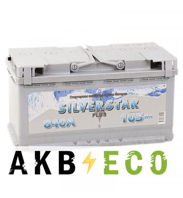 Автомобильный аккумулятор Silverstar Plus 105R 840A 353x175x190