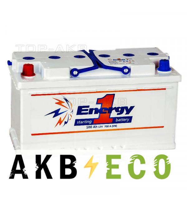 Автомобильный аккумулятор Energy ONE 100L 700А 353x175x190