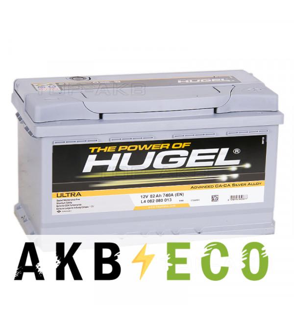Автомобильный аккумулятор Hugel Ultra 82R низкий 740A (315x175x175) LB4 082 074 013