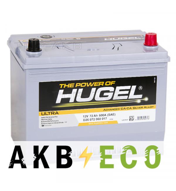 Автомобильный аккумулятор Hugel Ultra Asia 72R 600A (260x173x227) D26 072 060 017
