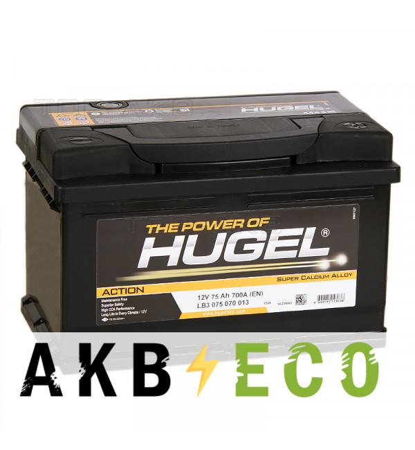 Автомобильный аккумулятор Hugel Action 75R низкий 700A (278x175x175) LB3 075 070 013