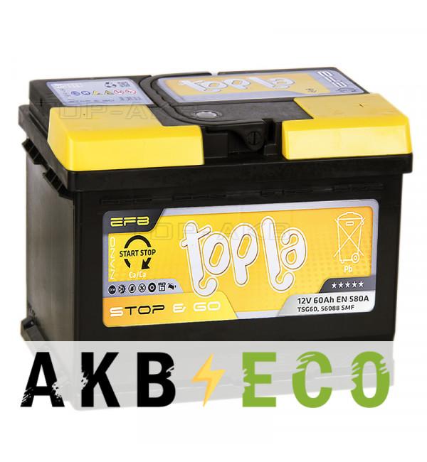 Автомобильный аккумулятор Topla EFB Stop-n-Go 60R (580A 242x175x190) 112060 56088