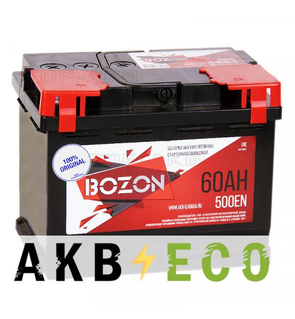 Автомобильный аккумулятор Bozon 60R 500A 242x175x190