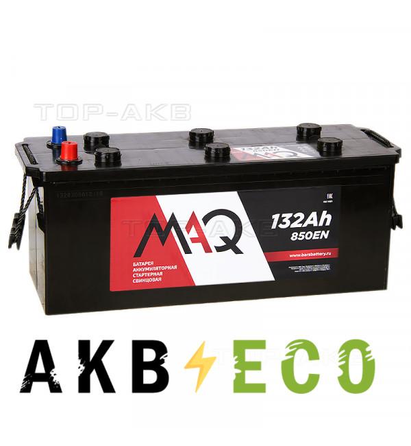 Грузовой аккумулятор MAQ 132 рус 850A (513x189x223)
