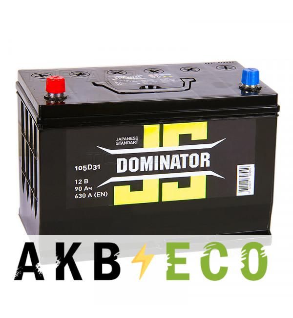 Автомобильный аккумулятор Dominator (JIS) 90 Ач 630А прямая пол. (300x172x223)
