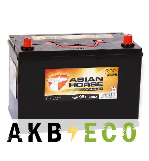Автомобильный аккумулятор Asian Horse 95R 800A 306x175x225