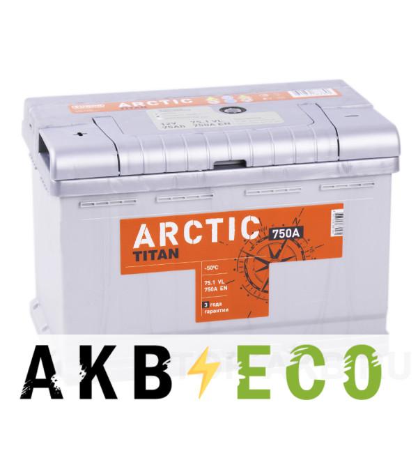 Автомобильный аккумулятор Titan Arctic 75L 750A 278x175x190
