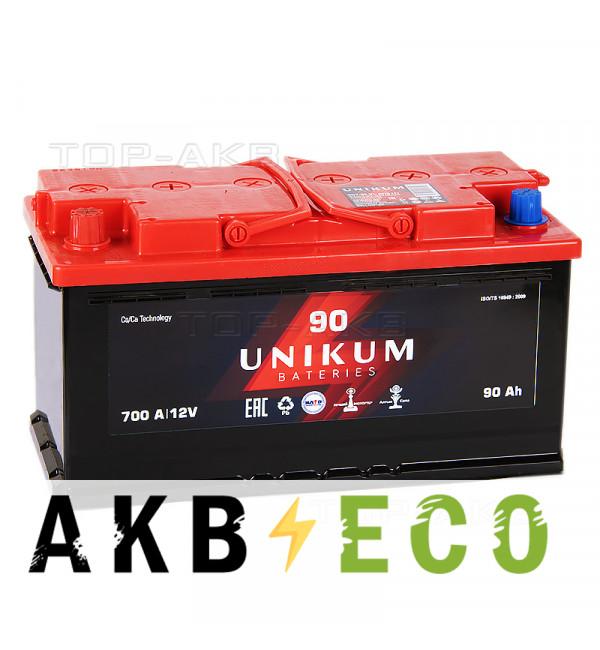 Автомобильный аккумулятор UNIKUM 90L 700A (353x175x190)