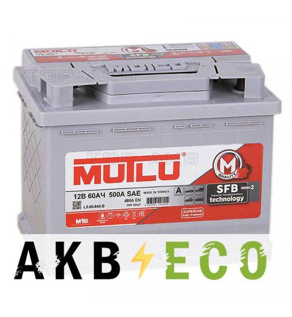 Автомобильный аккумулятор Mutlu 60L 480A 242x175x190