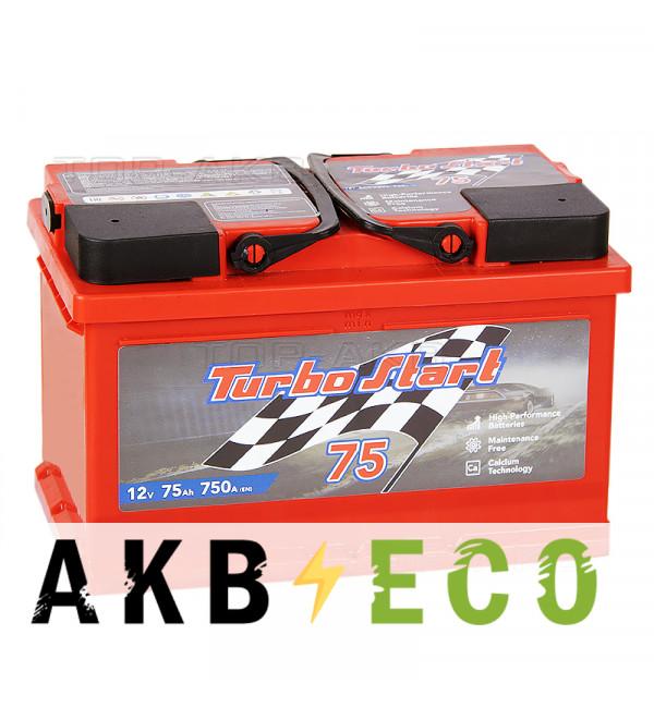 Автомобильный аккумулятор Turbo Start 75R низкий 750A 278x175x175