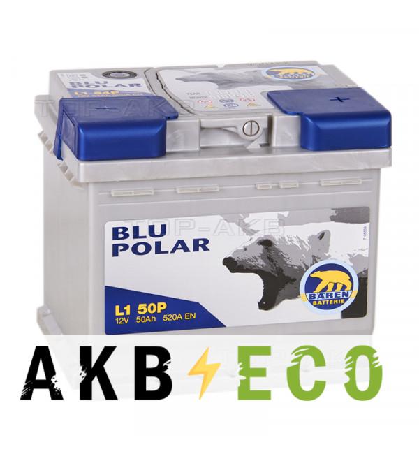 Автомобильный аккумулятор Baren Polar Blu 50R низкий 520A (207x175x175) L1B 50P