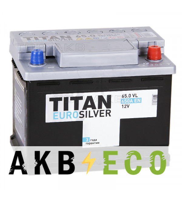 Автомобильный аккумулятор Titan Euro Silver 65R 650A 242x175x190