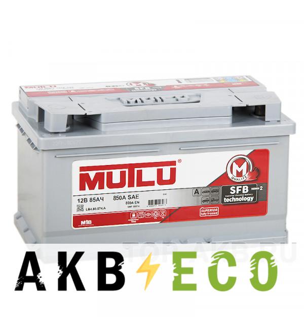 Автомобильный аккумулятор Mutlu 85R низкий 800А (315x175x175) SMF M3