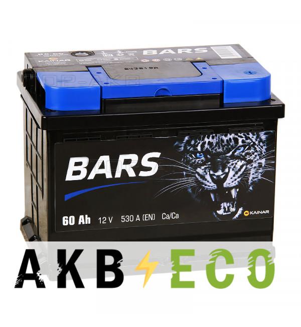 Автомобильный аккумулятор Bars 60R 530A 242x175x190
