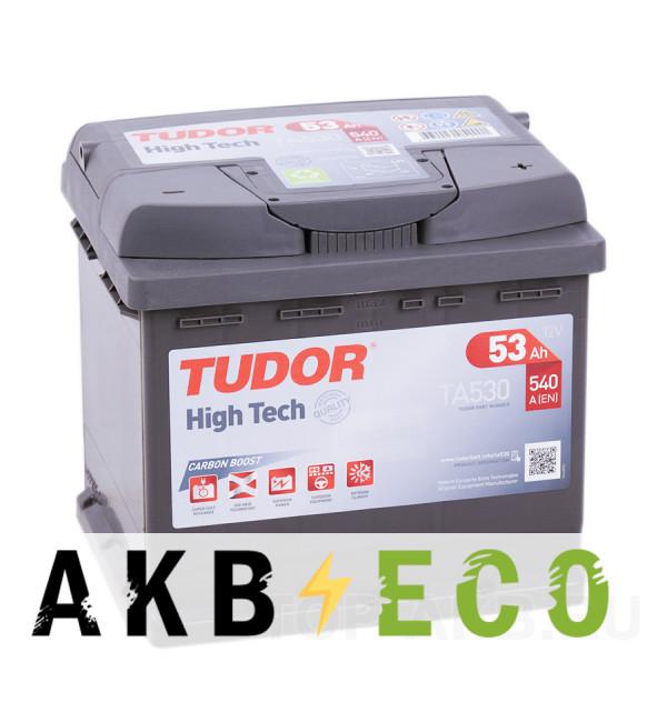Автомобильный аккумулятор Tudor High-Tech 53R (540A 207x175x190) TA530