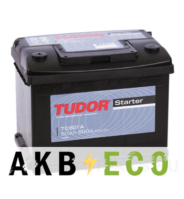 Автомобильный аккумулятор Tudor Starter 60L (500A 242x175x190) TC601А