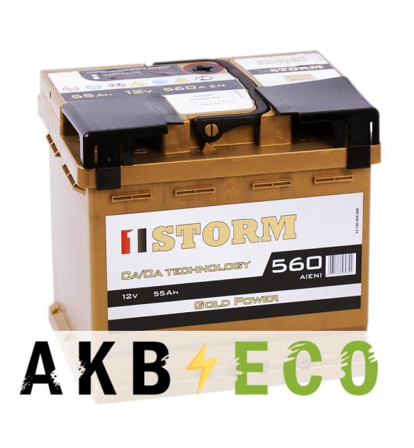 Автомобильный аккумулятор Storm Gold 55R 560A 207x175x190