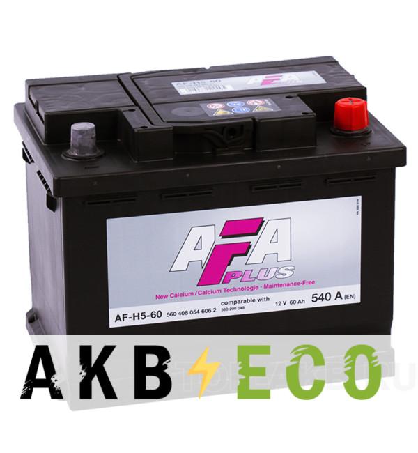 Автомобильный аккумулятор AFA Plus 60R 540A (242x175x190) AF-H5-60