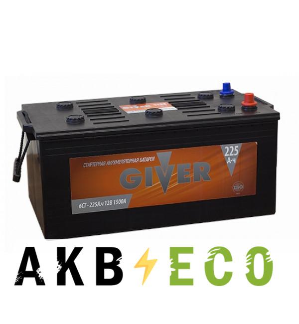 Грузовой аккумулятор Giver 225 евро (1500A 518x273x240)