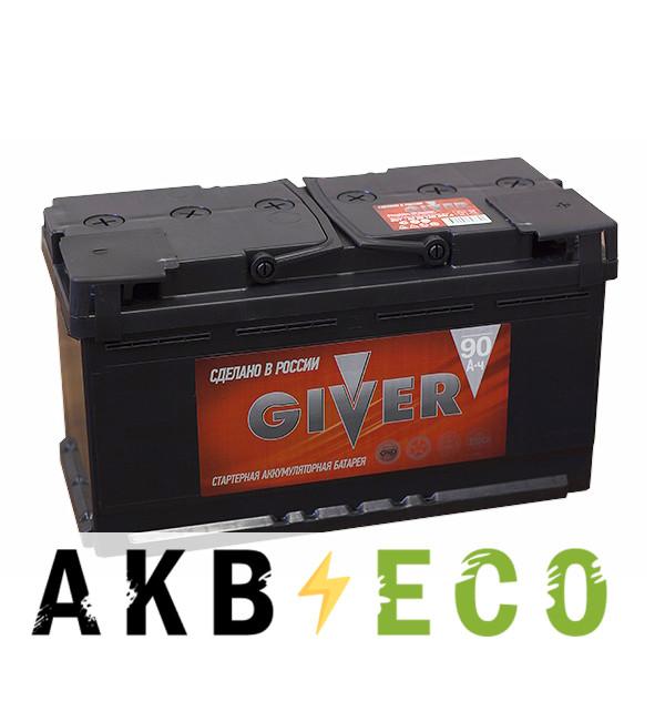 Автомобильный аккумулятор Giver 90R (690A 353x175x190)