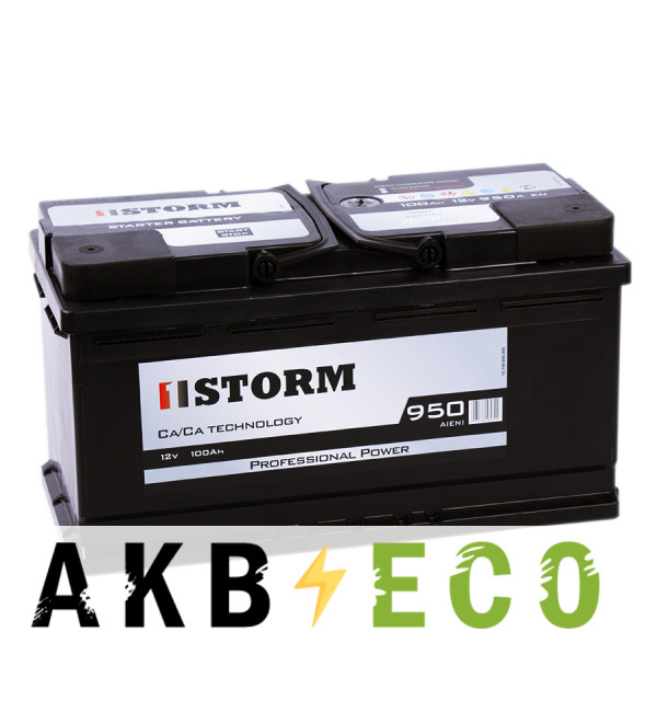 Автомобильный аккумулятор Storm Professional Power 100R 950A 353x175x190