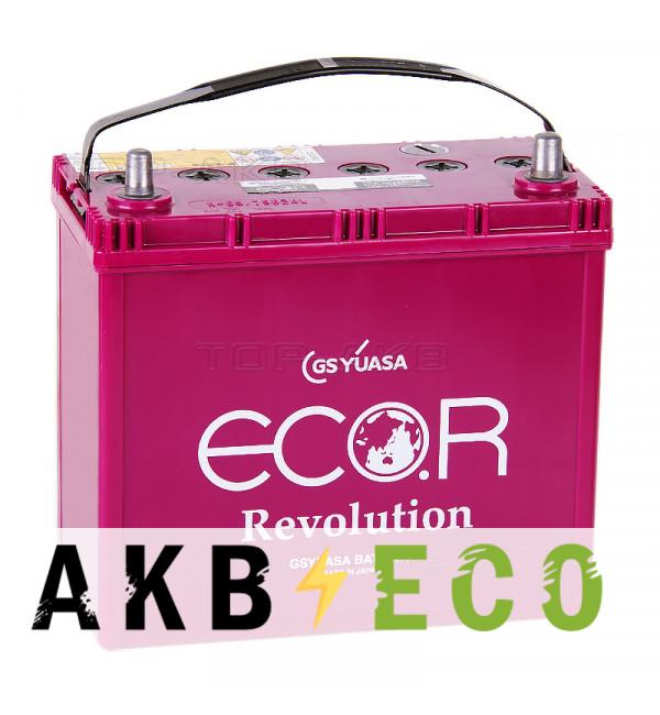 Автомобильный аккумулятор GS Yuasa ER-75B24L N-65 (50R 520A 238x128x227) ECO.R Revolution Start-Stop