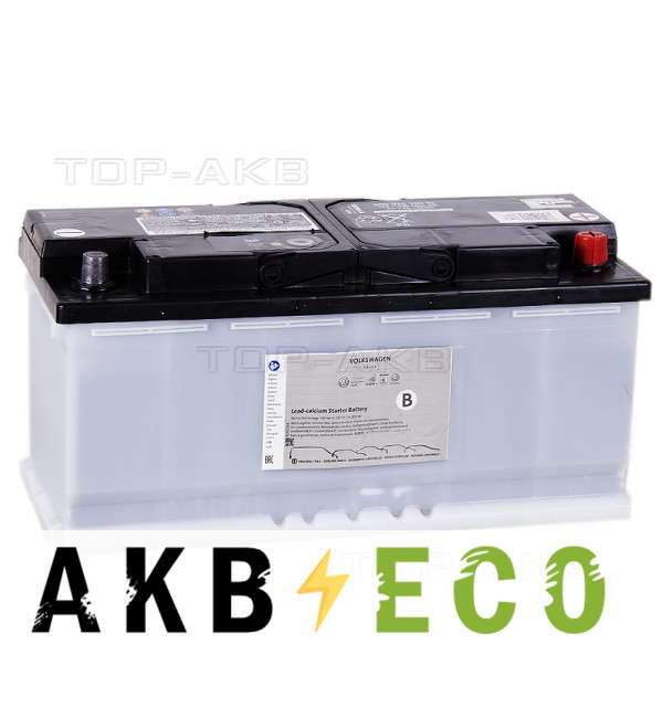 Автомобильный аккумулятор VAG Standart 110 Ач обратная пол. 520A (393x175x190) 000 915 105DL AUDI/VW
