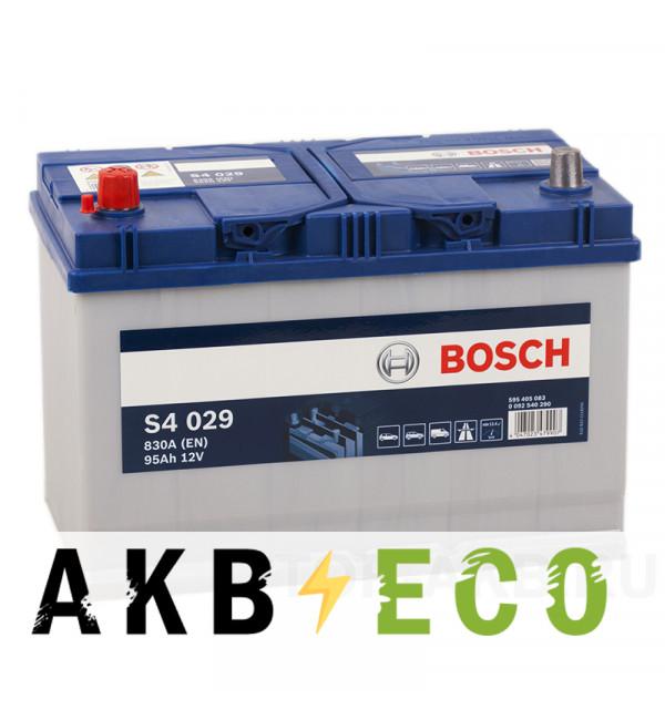 Автомобильный аккумулятор Bosch S4 029 95L 830A 306x173x225