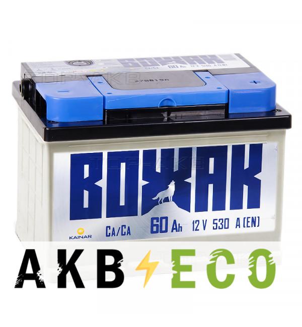 Автомобильный аккумулятор Вожак 60R низкий 530A 242x175x175