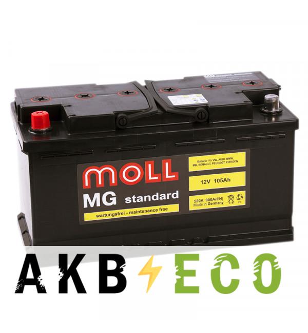 Автомобильный аккумулятор Moll MG Standard 105L 900A 353x175x190